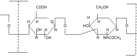 Repeating unit of hyaluronic acid