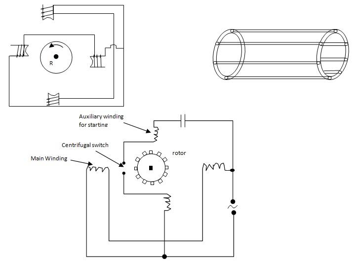 Single phase induction motor centrifugal switch for 1 phase ac motor